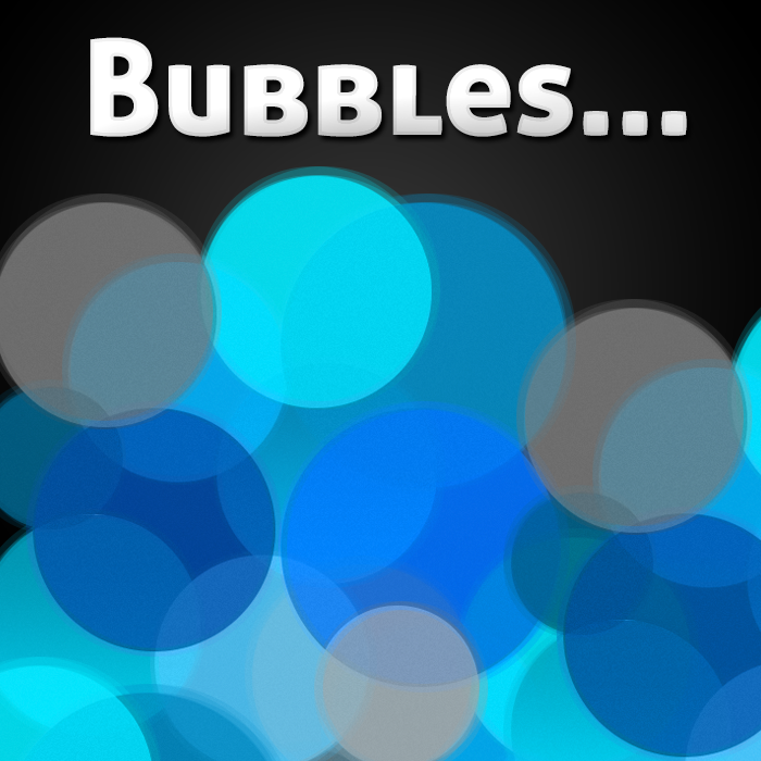 Blue and Gray Bubbles Background