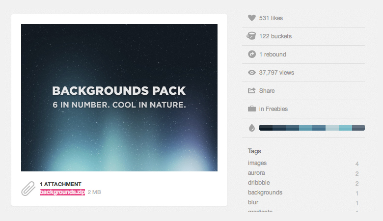http://dribbble.com/shots/582510-Dribbble-Backgrounds