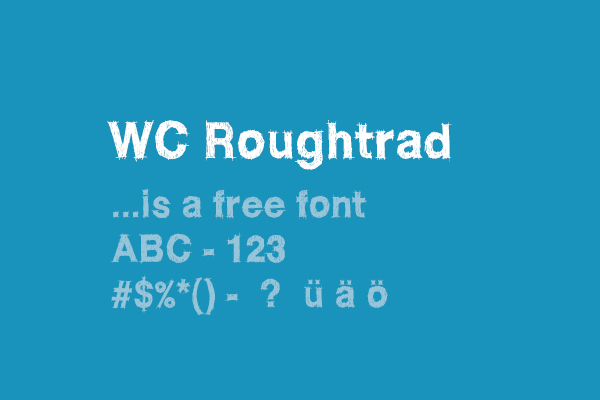 WC Roughtrad font